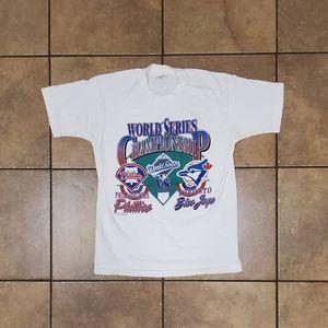 VTG 1993 Phillies Blue Jays MLB Single Stitch Tee